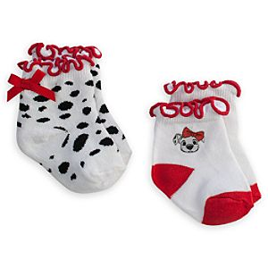 101 Dalmatians Ruffled Sock Set for Baby - 2-Pack