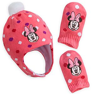 Minnie Mouse Hat and Mitten Set for Baby
