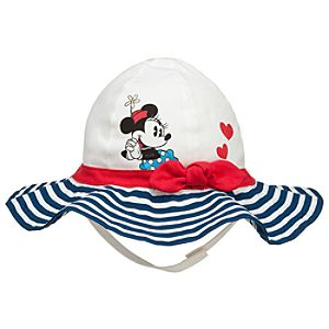 Minnie Mouse Striped Swim Hat for Baby - Personalizable