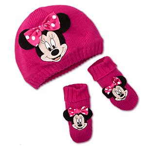 Minnie Mouse Hat and Gloves Set for Baby