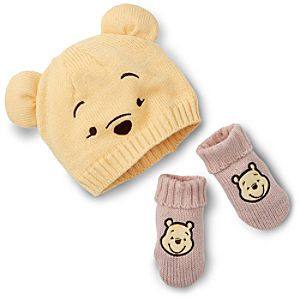Winnie the Pooh Hat and Gloves Set for Baby