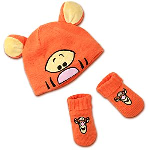 Tigger Hat and Gloves Set for Baby