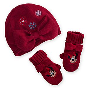 Minnie Mouse Knit Cap and Mittens Set for Baby - Holiday