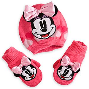 Minnie Mouse Hat and Mittens Set for Baby