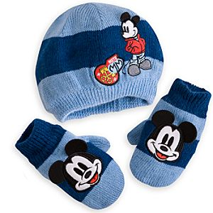 Mickey Mouse Hat and Mittens Set for Baby