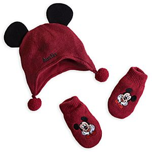 Mickey Mouse Hat and Mittens Set for Baby - Holiday - Personalizable