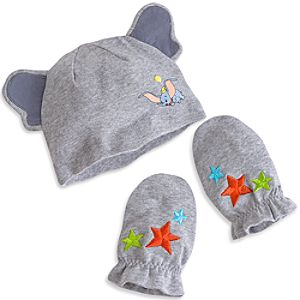 Dumbo Layette Hat and Mittens Set for Baby