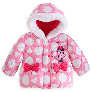 Minnie Mouse Puffy Jacket for Baby - Personalizable