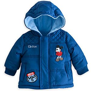 Mickey Mouse Hooded Puffy Jacket for Baby - Personalized