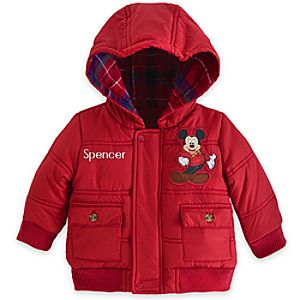 Holiday Mickey Mouse Puffy Jacket for Boys - Personalizable