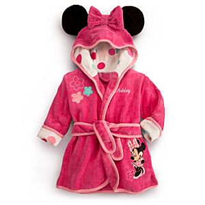 Minnie Mouse Bath Robe for Baby