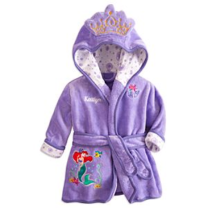 Ariel Little Mermaid Bath Robe for Baby Girls - Personalizable