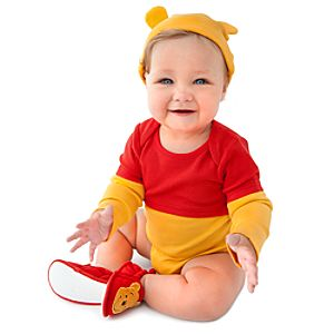 Personalizable Winnie the Pooh Bodysuit Set for Babies -- 2-Pc.