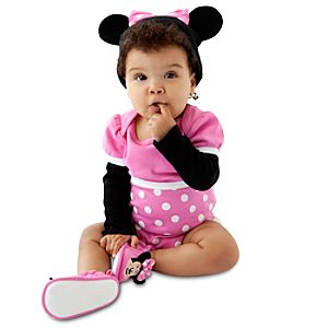 Minnie Mouse Costume Bodysuit and Cap for Infants -- Made With Organic Cotton