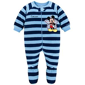 Personalizable Fleece Mickey Mouse Blanket Sleeper for Babies