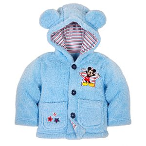 Plush Hooded Mickey Mouse Jacket for Baby Boys