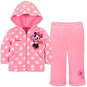 Personalizable Minnie Mouse Fleece Set for Baby Girls -- 2-Pc.