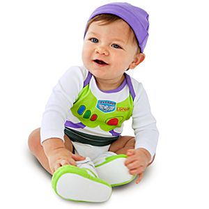 Buzz Lightyear Costume Bodysuit and Cap for Baby Boys -- Made With Organic Cotton