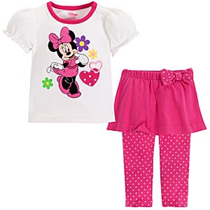 Minnie Mouse Skirt Set for Baby Girls -- 2-Pc.