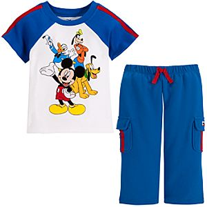 Mickey Mouse and Friends Pant Set for Baby Boys -- 2-Pc.