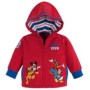 Personalizable Mickey Mouse and Friends Hoodie for Baby