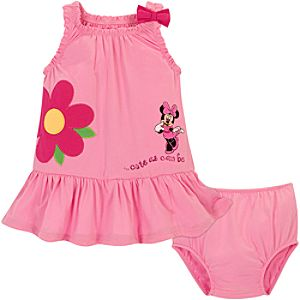 Cute As Can Be Minnie Mouse Dress Set -- 2-Pc.
