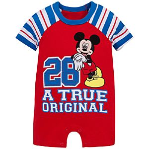 A True Original Mickey Mouse Tiny Tee Coverall for Baby Boy