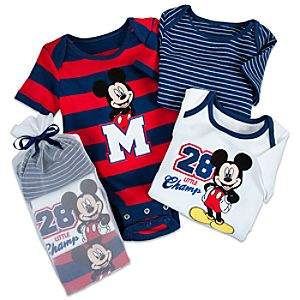 Disney Cuddly Bodysuit Set for Baby Boys - Mickey Mouse
