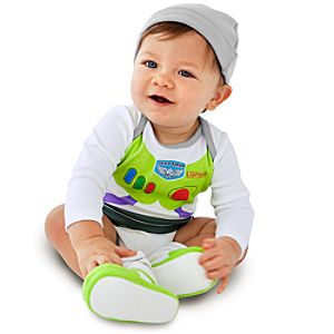 Personalizable Buzz Lightyear Cuddly Bodysuit and Cap for Baby Boys