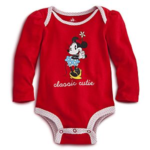 Minnie Mouse Disney Cuddly Bodysuit for Baby - Red