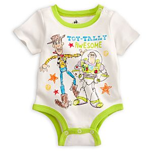 Woody and Buzz Disney Cuddly Bodysuit for Baby