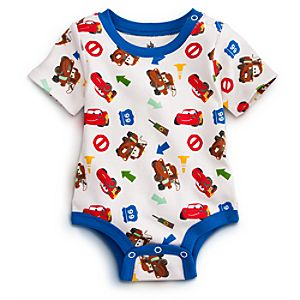 Mater and Lightning McQueen Disney Cuddly Bodysuit for Baby