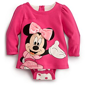 Minnie Mouse Disney Cuddly Bodysuit for Baby - Pink