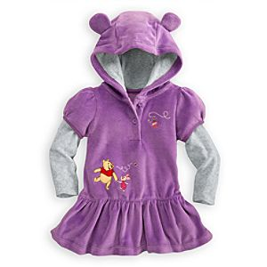 Winnie the Pooh Dress for Baby - Hooded