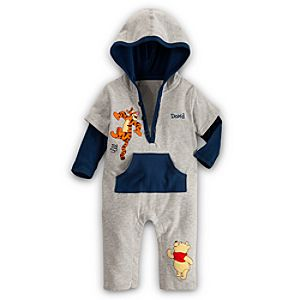 Winnie the Pooh and Tigger Coverall for Baby - Personalizable