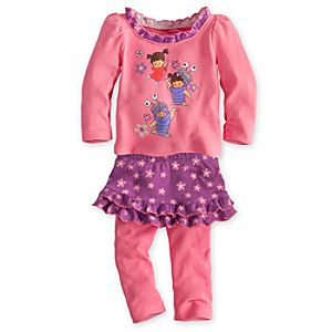 Boo Top and Skirt with Leggings Set for Baby - Monsters, Inc.