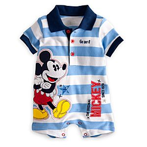 Mickey Mouse Polo One Piece for Baby - Personalizable