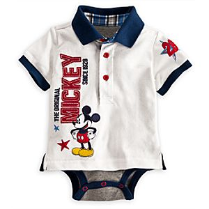 Mickey Mouse Polo Disney Cuddly Bodysuit for Baby
