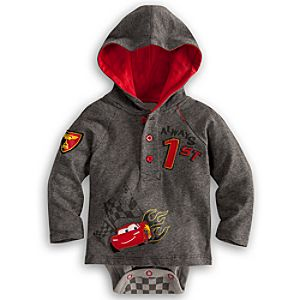 Lightning McQueen Hoodie Disney Cuddly Bodysuit for Baby