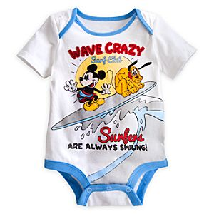 Mickey Mouse and Pluto Disney Cuddly Bodysuit for Baby