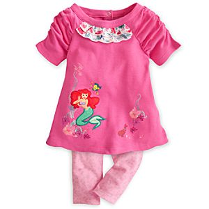 Ariel Dress with Leggings Set for Baby