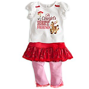 Jessie Top and Skirt with Leggings Set for Baby