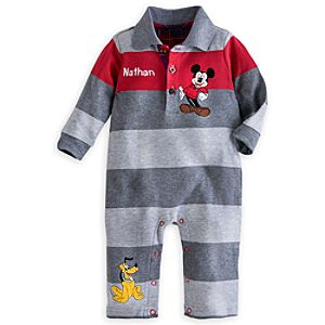 Mickey Mouse & Pluto Holiday Coverall for Baby - Personalizable