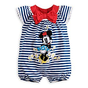 Minnie Mouse Short Romper for Baby