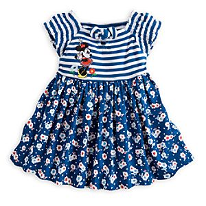 Minnie Mouse Floral Woven Dress for Baby