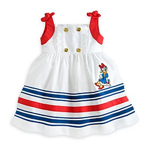 Daisy Duck Woven Dress for Baby