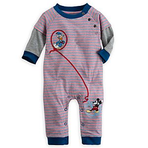Mickey Mouse and Donald Duck Coverall for Baby