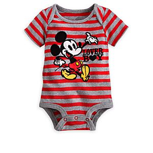 Mickey Mouse Striped Disney Cuddly Bodysuit for Baby