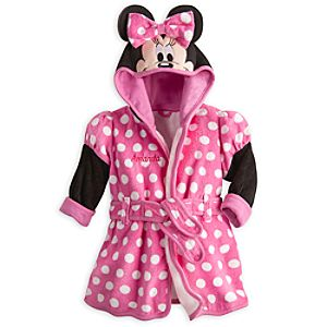 Minnie Mouse Bath Robe for Baby - Personalizable