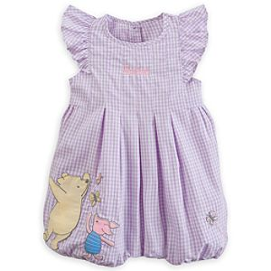 Winnie the Pooh and Piglet Classic Woven Romper for Baby - Personalizable